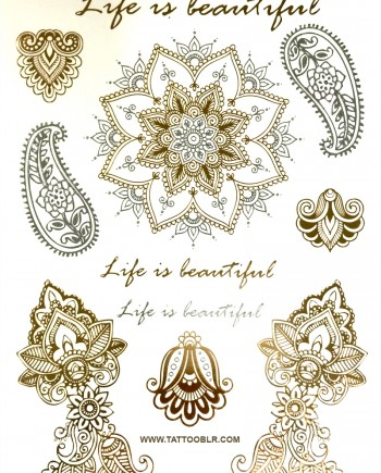tatouage-temporaire-or-life-is-beautiful